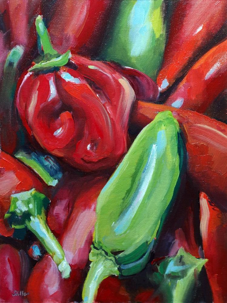 """""""3144 Sweet Peppers"""" original fine art by Dietmar Stiller"""
