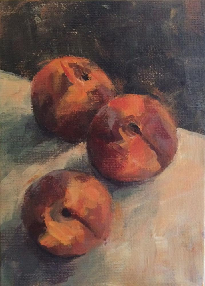 """Peaches No. 2"" original fine art by Shannon Bauer"