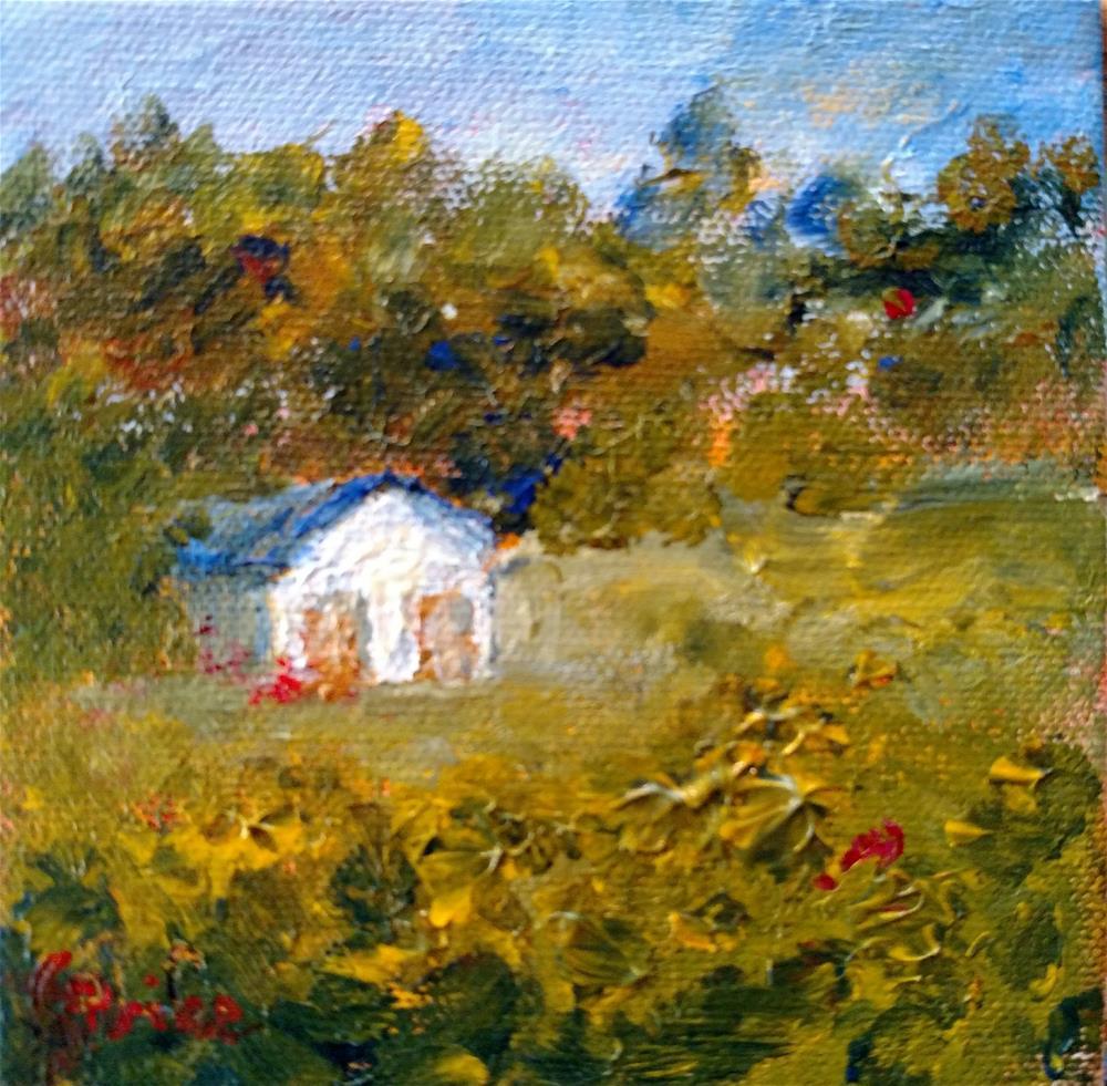 """Bill's Chicken House"" original fine art by S. Lynne Price"