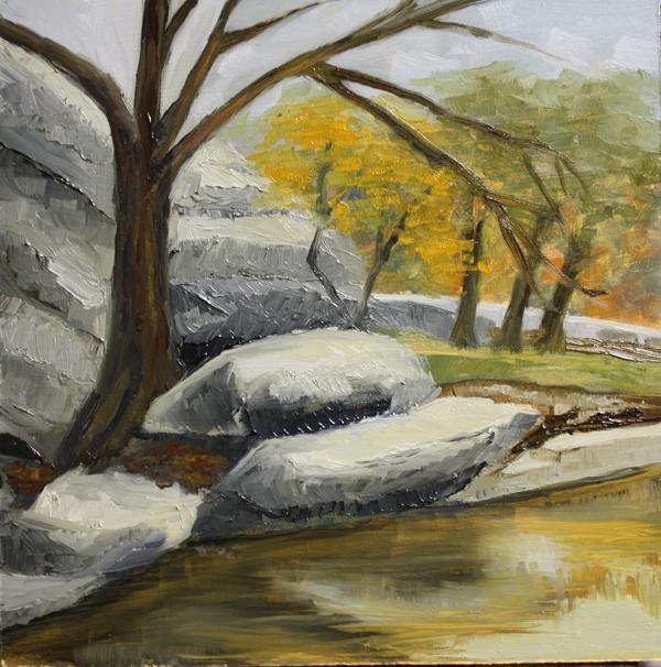 """Peaceful Reflections"" original fine art by Jane Frederick"