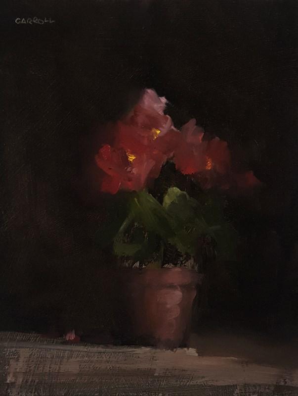"""Begonias"" original fine art by Neil Carroll"