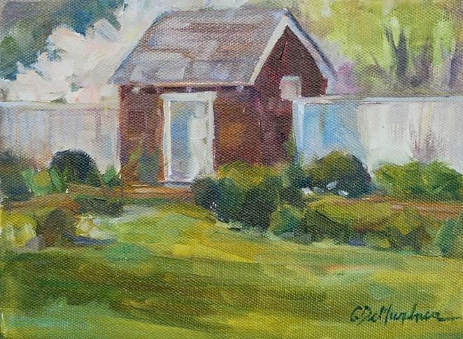 """""""Stroll through the Garden"""" original fine art by Carol DeMumbrum"""