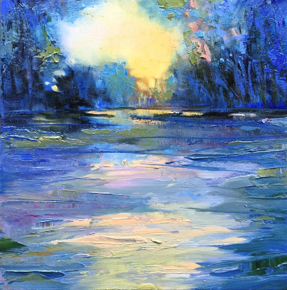 """Impasto Landscape 86"" original fine art by Charlotte Fitzgerald"