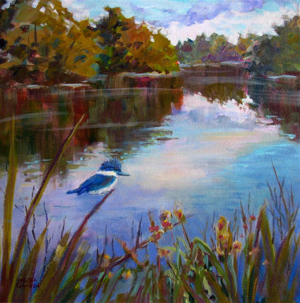 """Kingfisher in the Marsh"" original fine art by Melissa Gannon"