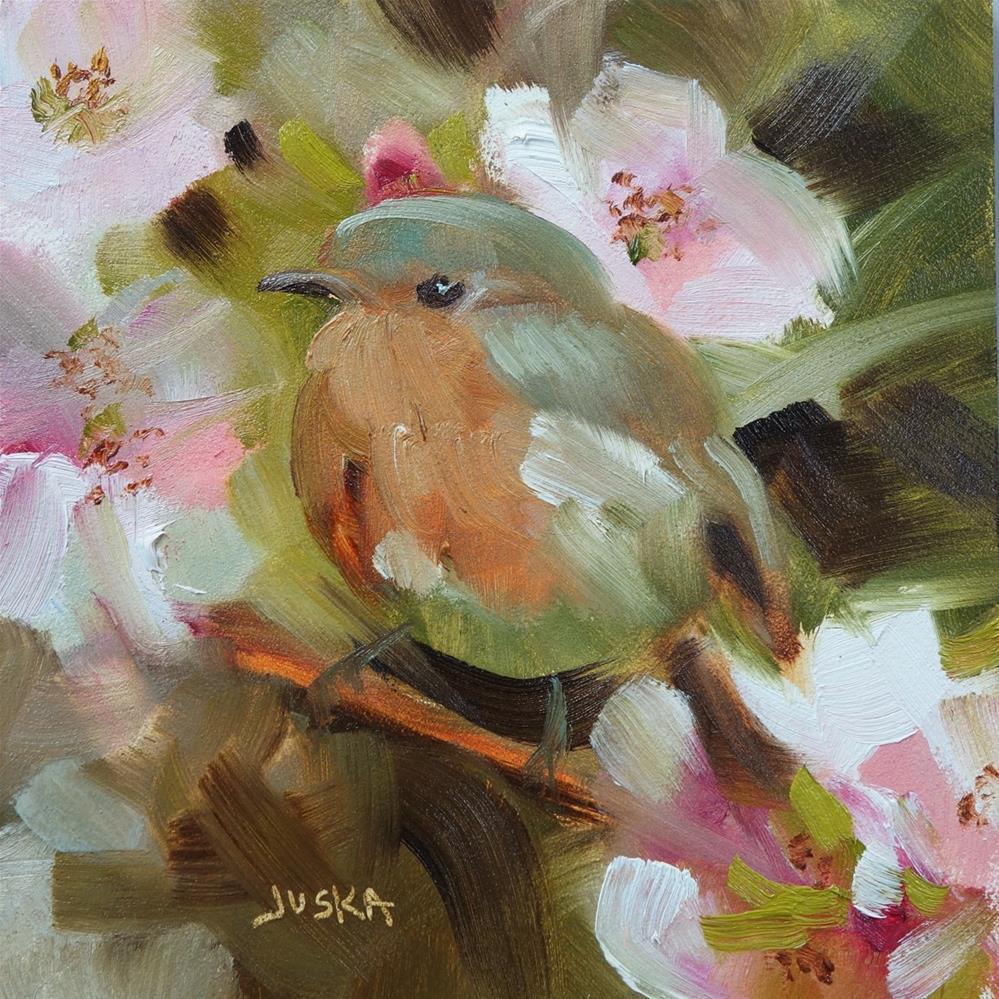 """Baby Chick"" original fine art by Elaine Juska Joseph"