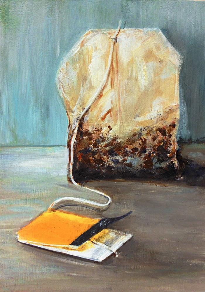 """""""Tea Bag 3"""" original fine art by Sunny Avocado"""