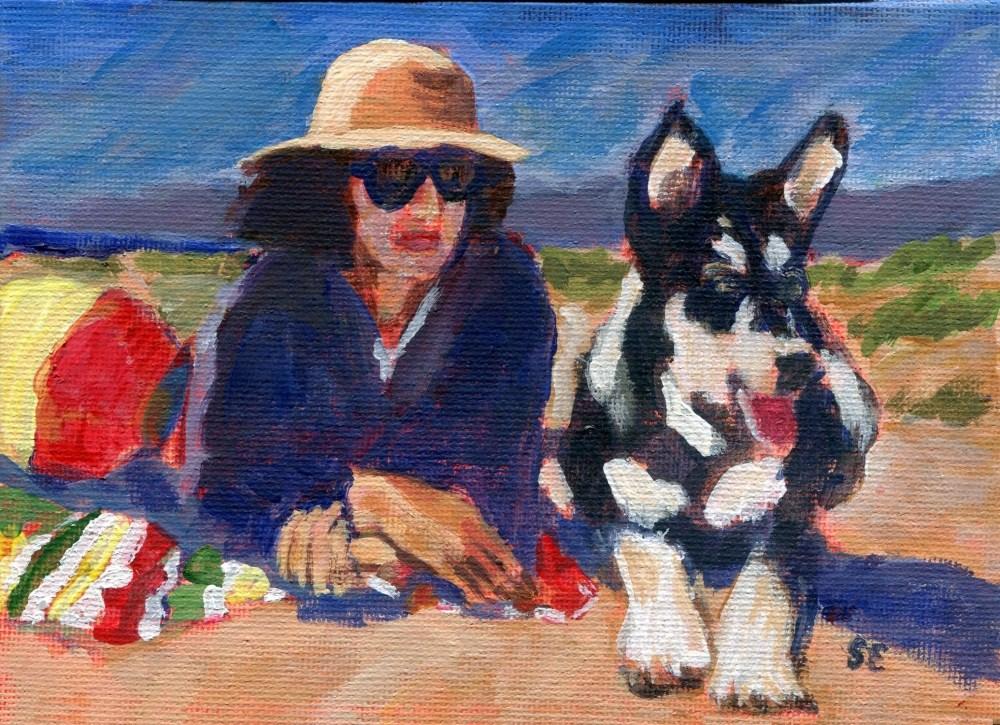 """""""Beach Patrol"""" original fine art by Stanley Epperson"""