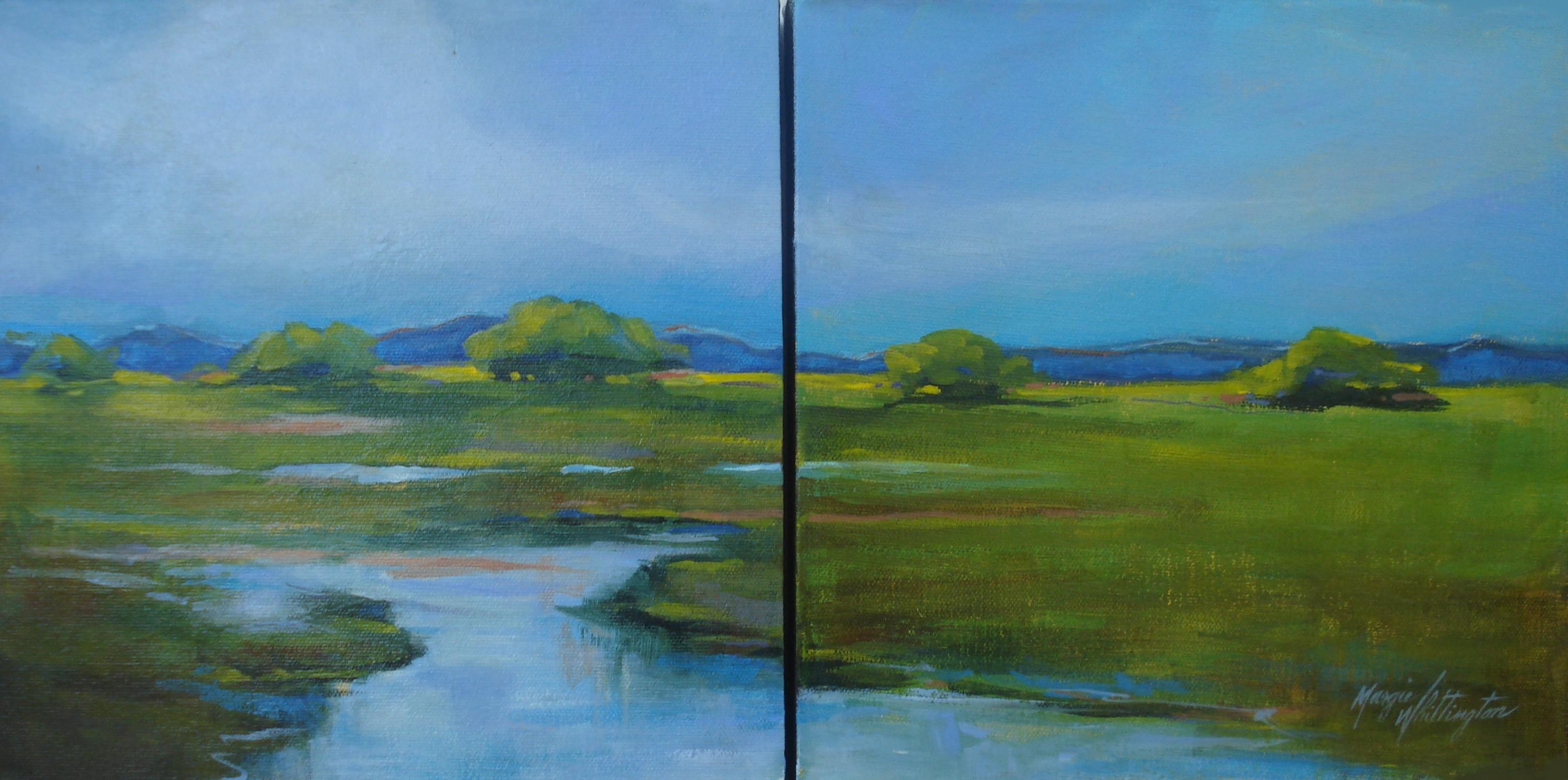 """Hill Country Creek"" original fine art by Margie Whittington"
