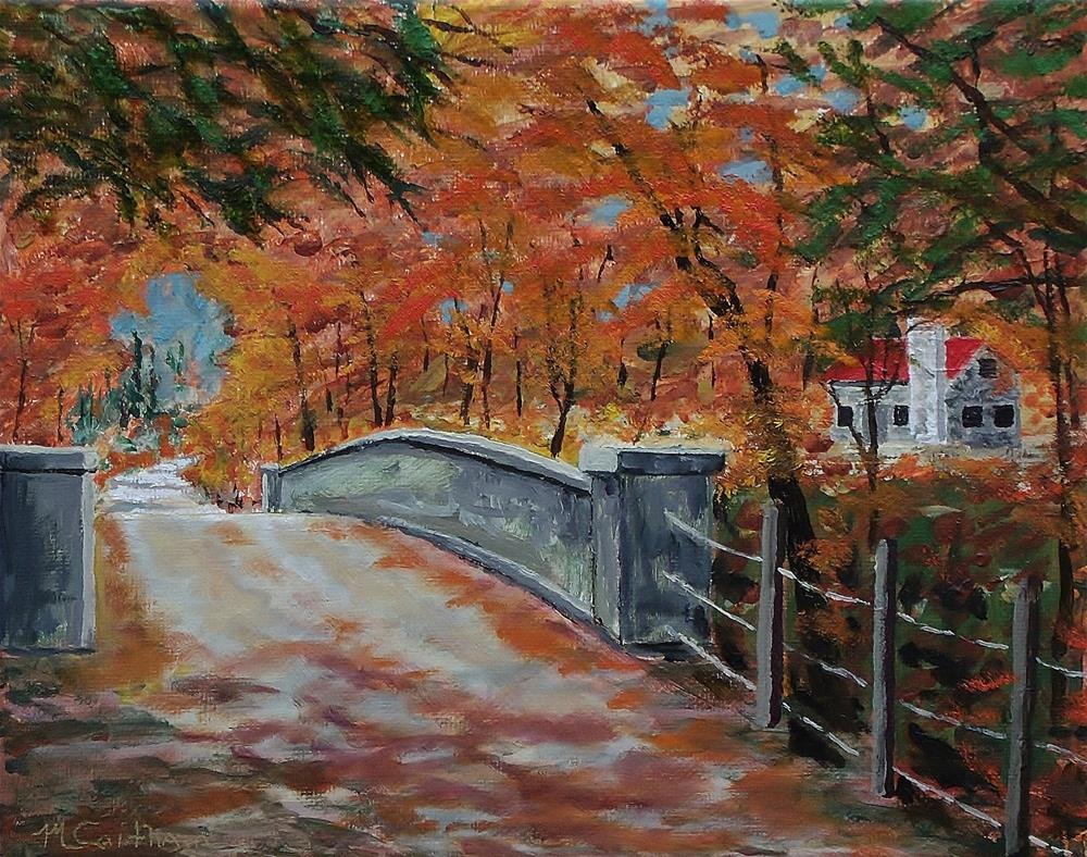 """One Lane Bridge"" original fine art by Mike Caitham"