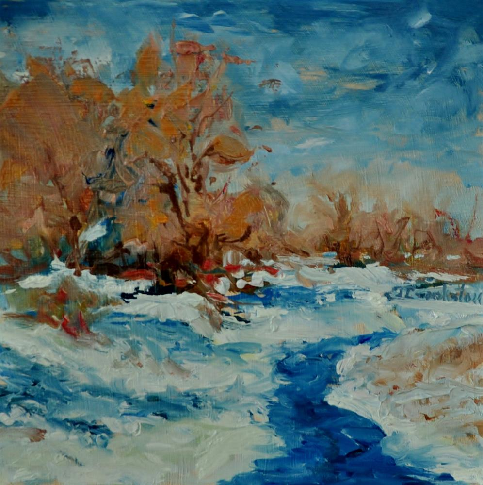 """""""Icy Waters"""" original fine art by Catherine Crookston"""