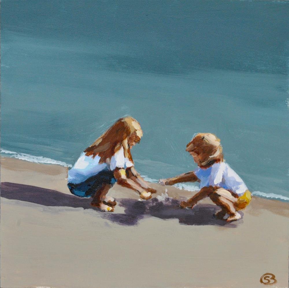 """Building Sandcastles"" original fine art by Shari Buelt"
