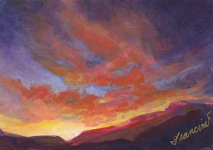 """West Coast Sunset"" original fine art by Francine Dufour~Jones"