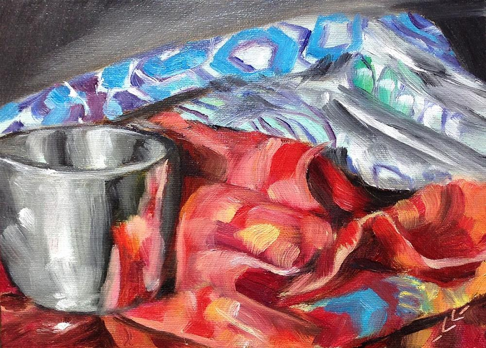 """On the Nightstand"" original fine art by Linda Lowery"