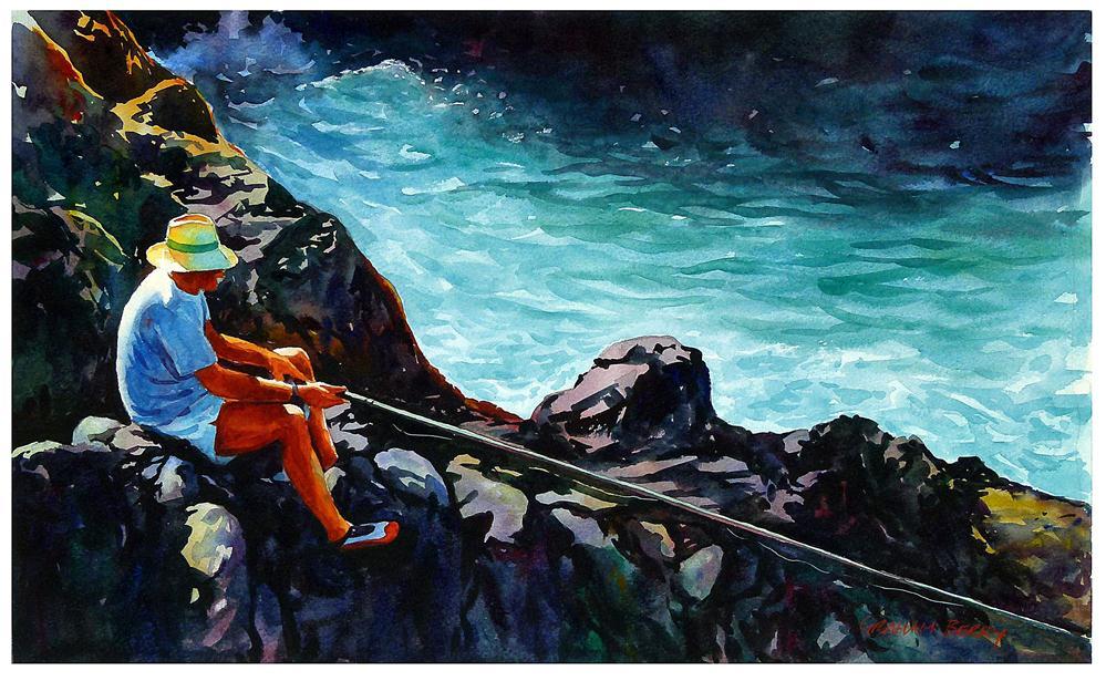 """On the rocks."" original fine art by Graham Berry"