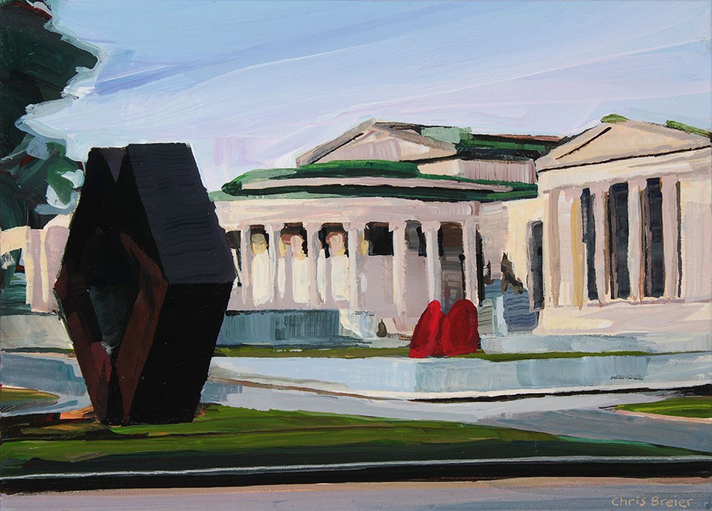 """Albright Knox"" original fine art by Chris Breier"
