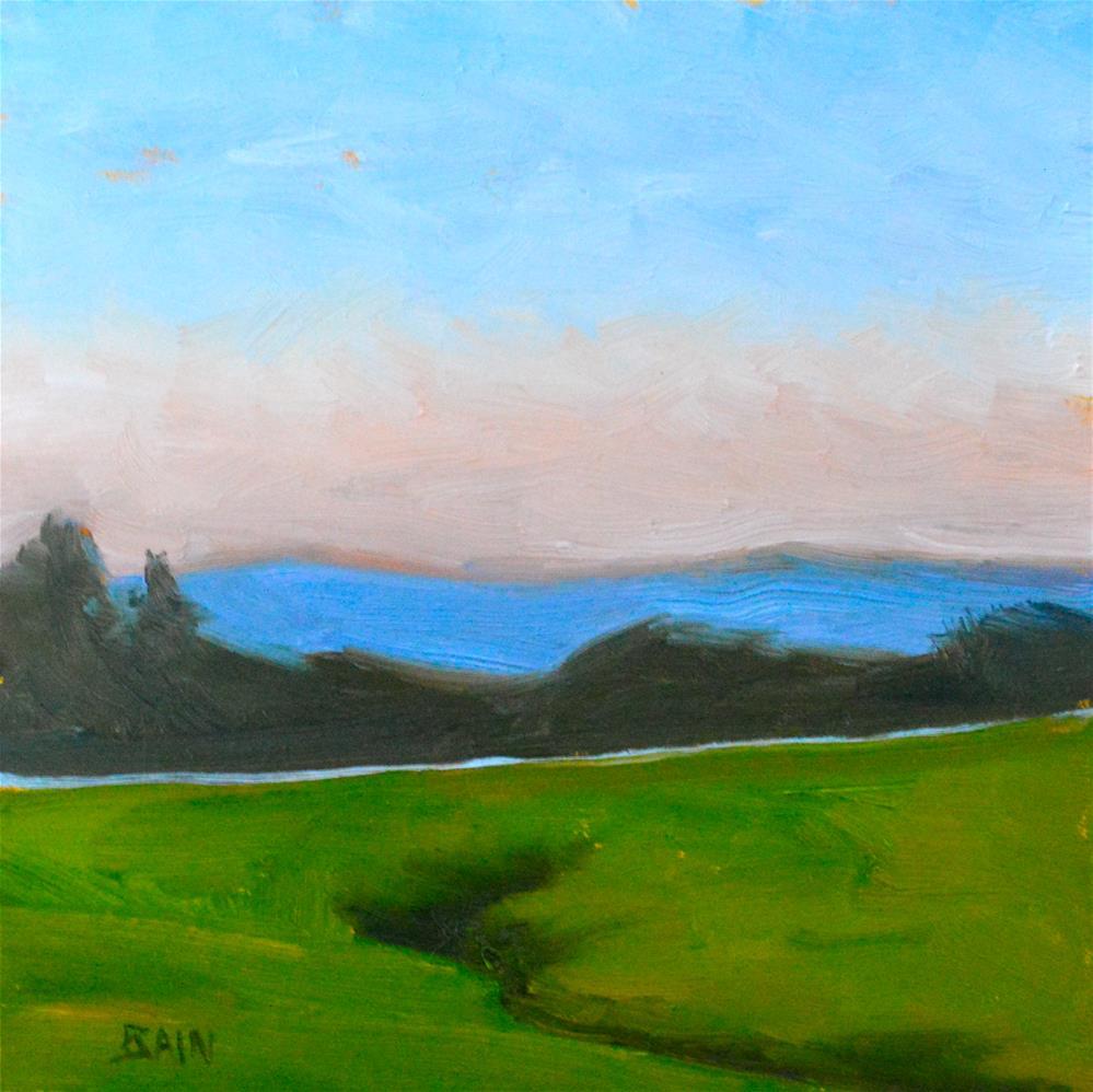 """Silver Road"" original fine art by Peter Bain"