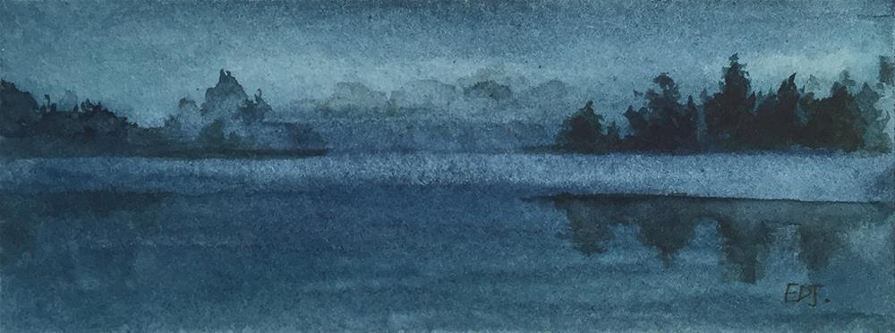 """The Lake"" original fine art by Elizabeth Dawn Johnston"