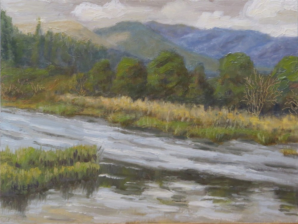 """A River Runs Through It"" original fine art by Richard Kiehn"