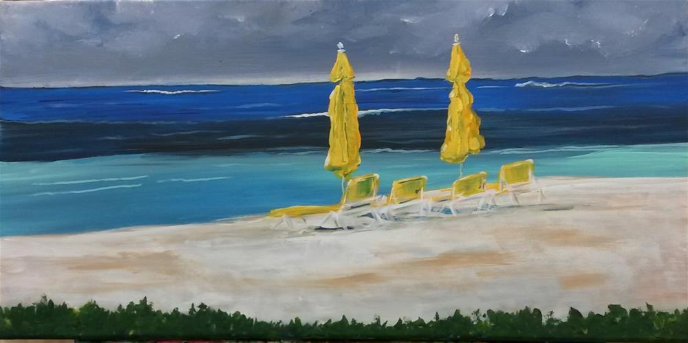 """St. Marten Beach"" original fine art by Terri Einer"