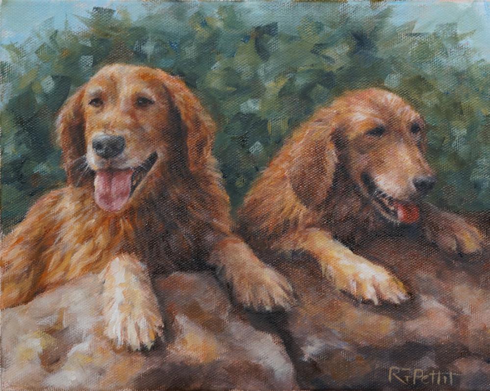 """""""Golden Sisters"""" original fine art by Rhea  Groepper Pettit"""