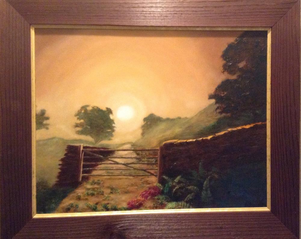 """Early Morning Rock Fence"" original fine art by Beau Crump"