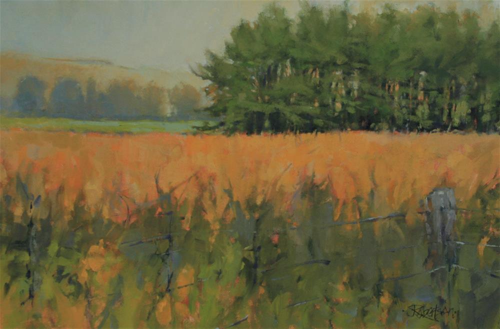 """""""Fall Fieldscape"""" original fine art by Jane Robertson"""