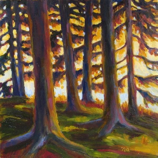 """Goodnight Sun"" original fine art by Nicki Ault"