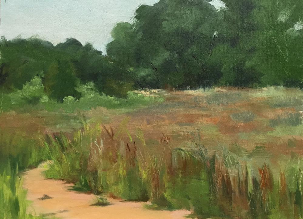 """""""Grasses at French Park"""" original fine art by Judith Anderson"""