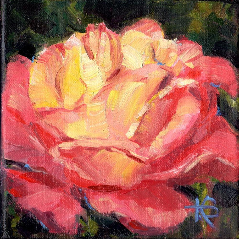 """Rosey"" original fine art by Kathy Bodamer"