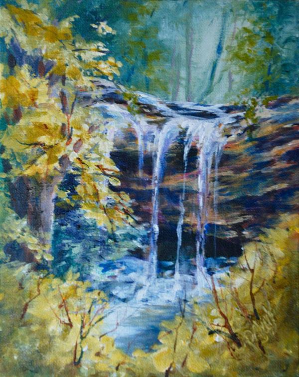 """Trickles From Heaven"" original fine art by Donna Pierce-Clark"