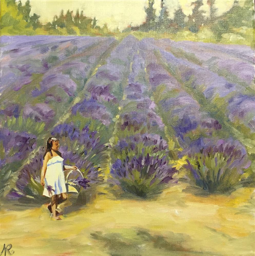 """Lavender"" original fine art by Natasha Ramras"