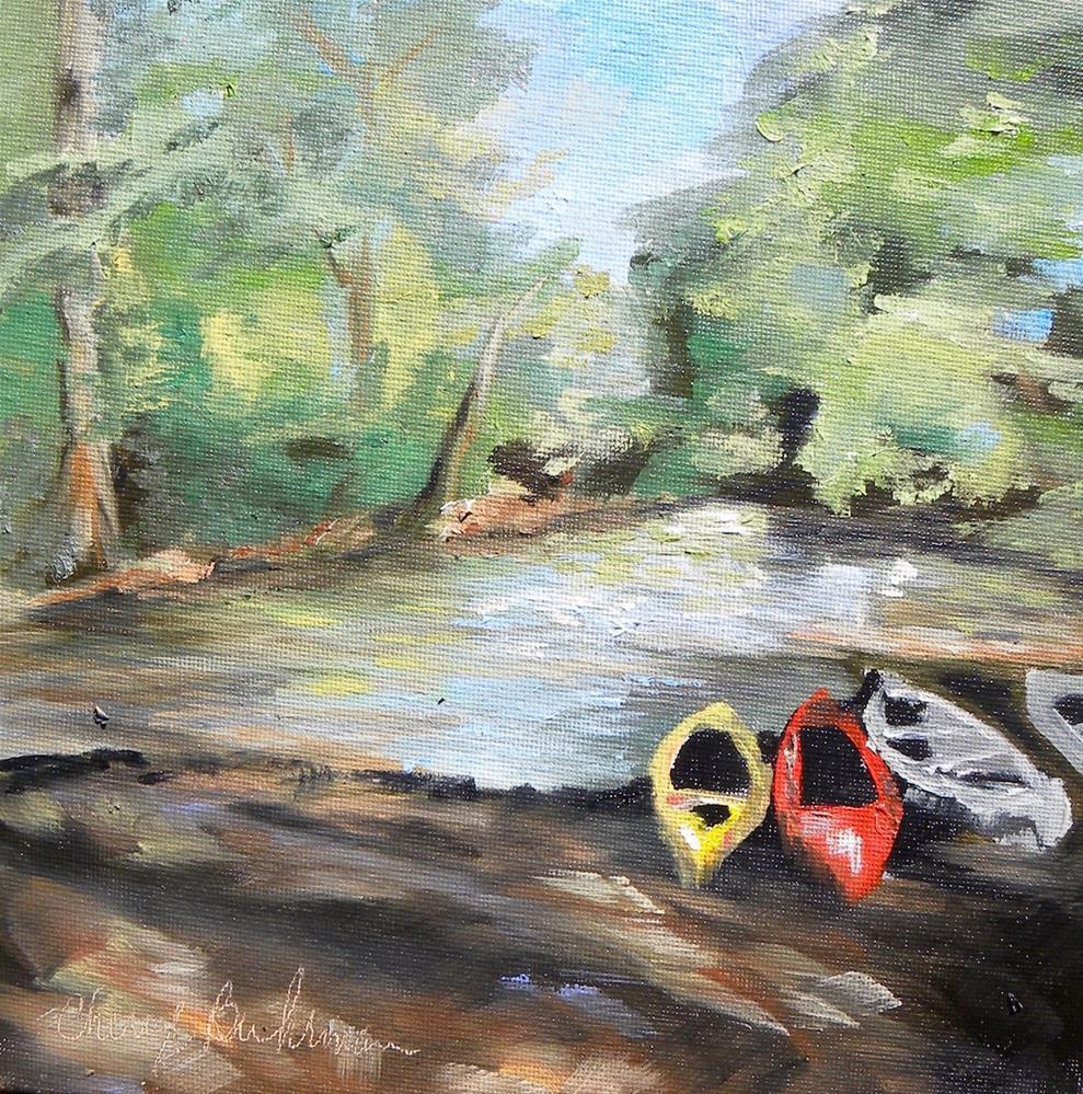 """""""Floyds Fork Kayak"""" original fine art by cheryl buhrman"""