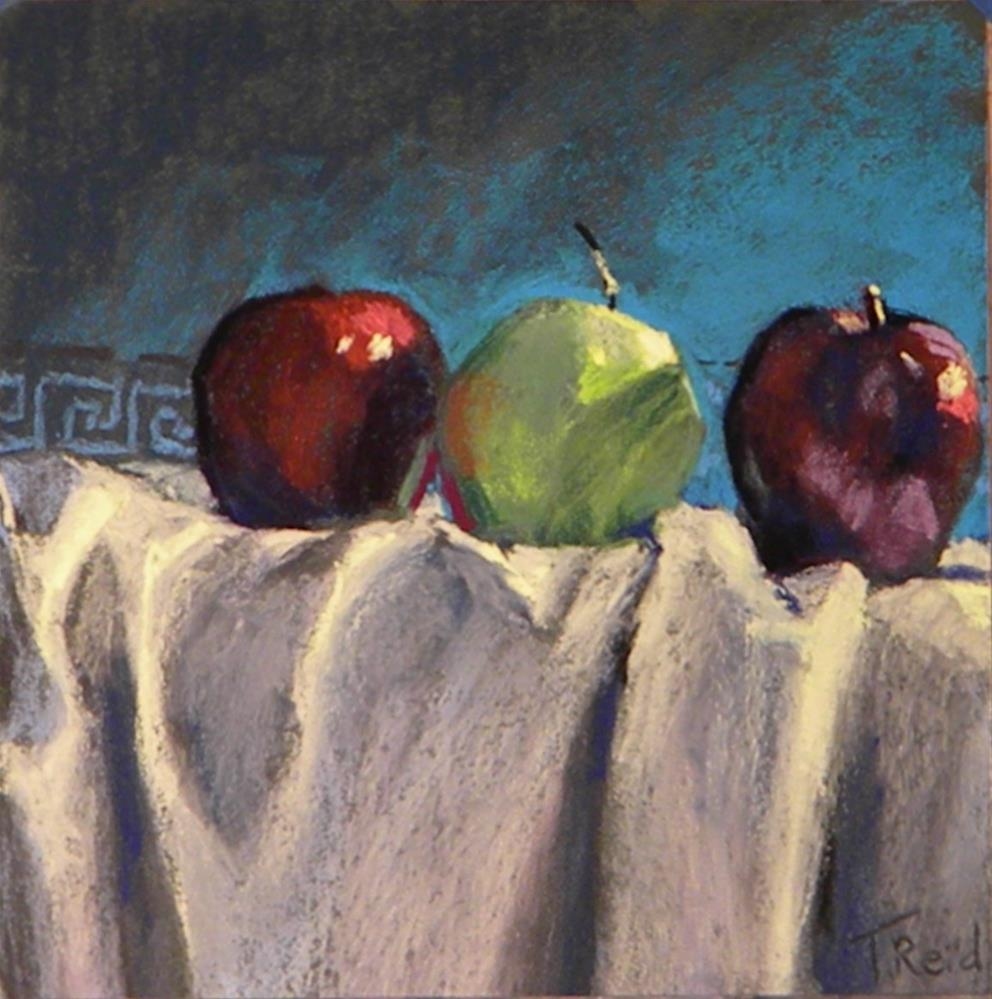 """Three apples"" original fine art by Toby Reid"