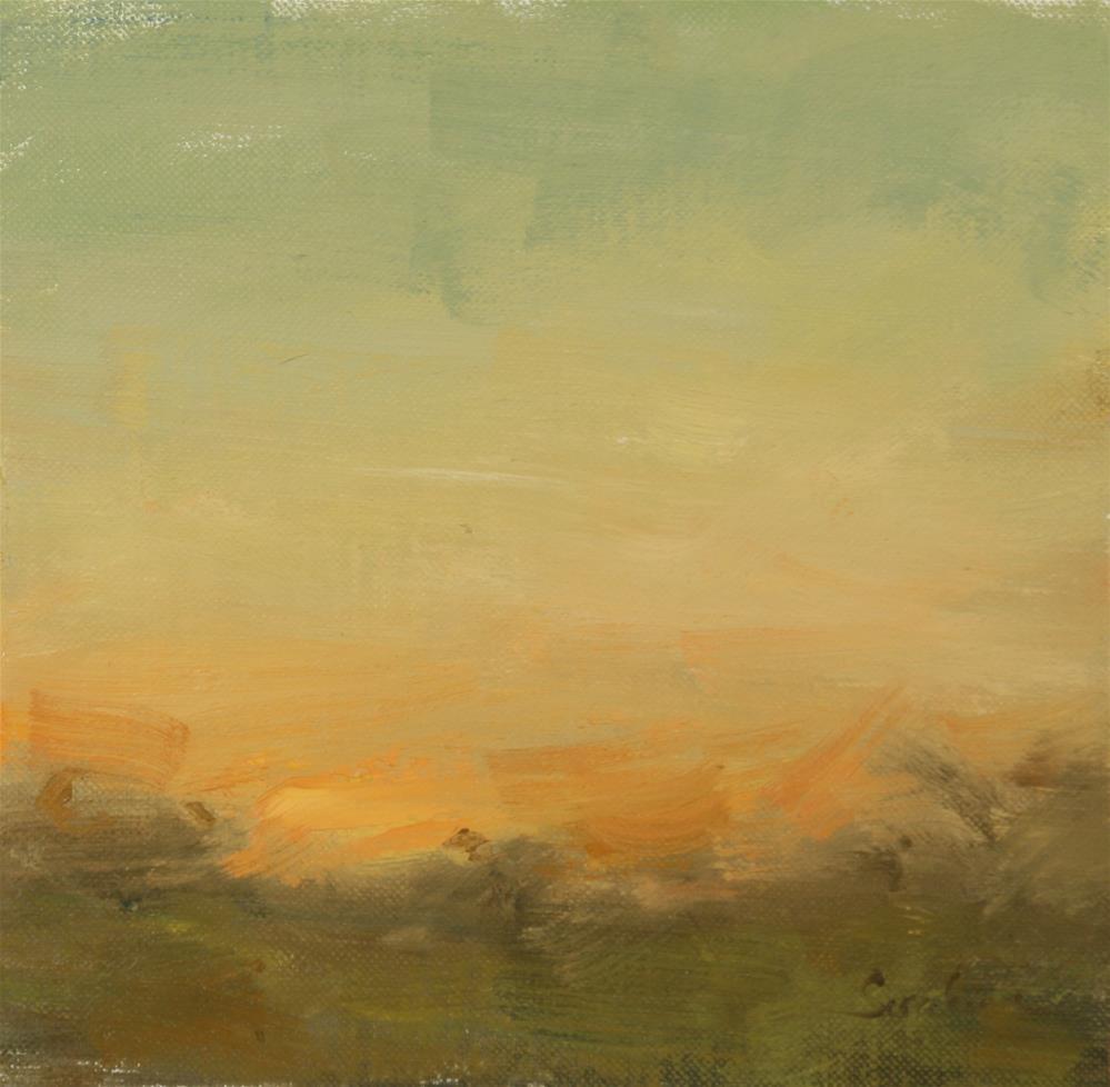 """""""Fall Sunset 01"""" original fine art by Scott Serafica"""