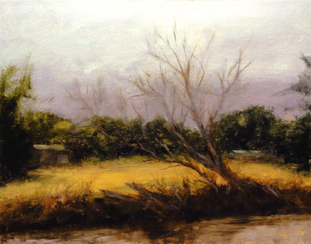 """Riverside Farm"" original fine art by Dalan Wells"