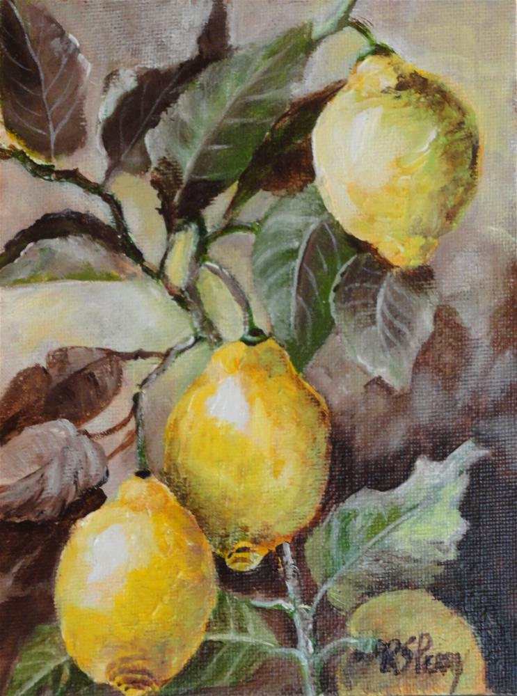 """Lemon Tree"" original fine art by R. S. Perry"