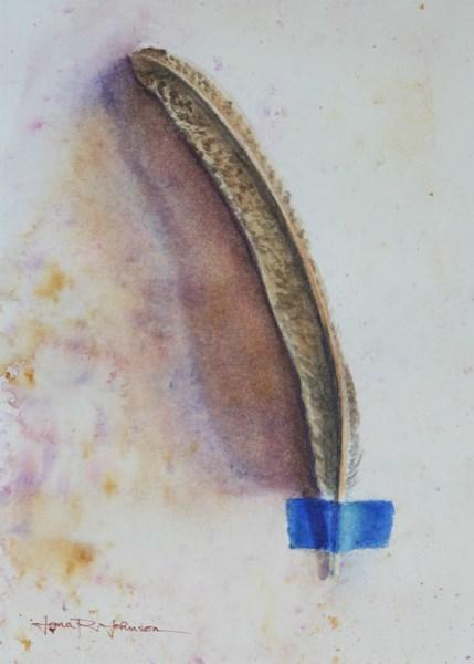 """Feather 2"" original fine art by Jana Johnson"