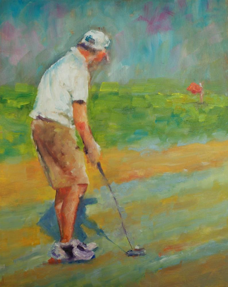 """Chip Shot"" original fine art by Sue Churchgrant"