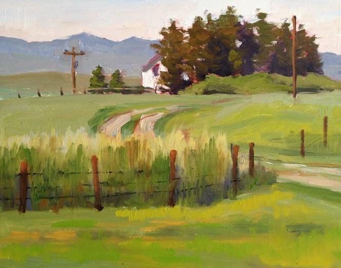 """Drive to Rose's Farm"" original fine art by Deborah Newman"