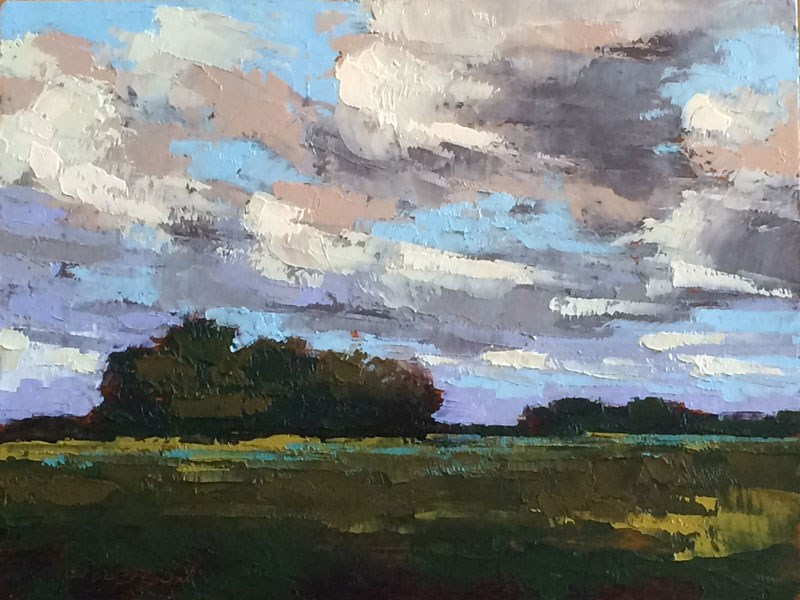 """""""May Hayfields"""" original fine art by Mary Gilkerson"""