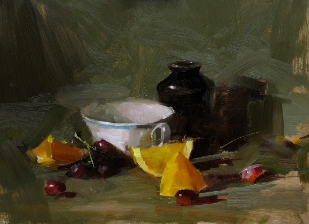 """Demo at Putney 2012-1"" original fine art by Qiang Huang"