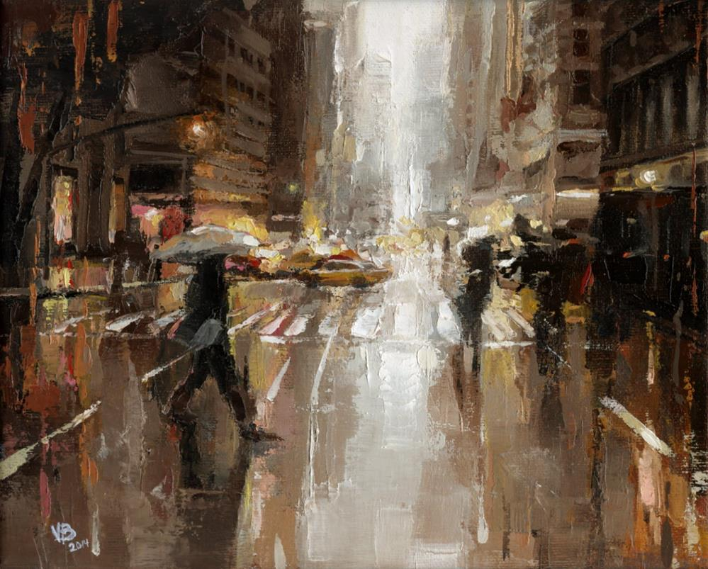 """5th NYC"" original fine art by Victor Bauer"