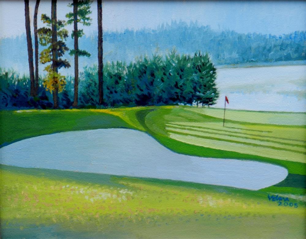 """The Golf Club of Georgia"" original fine art by Velma Davies"