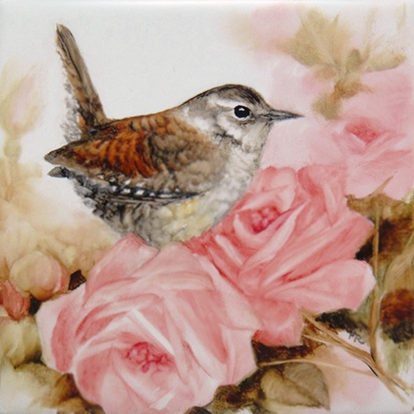 """Rosy Visitor"" original fine art by Paulie Rollins"