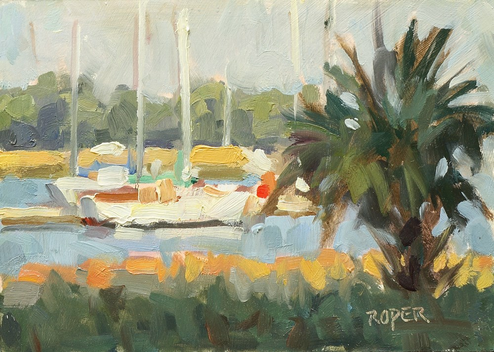 """Harbor Study"" original fine art by Stuart Roper"