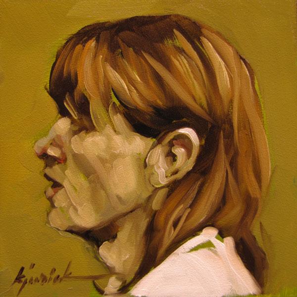 """100 Faces, No. 93"" original fine art by Karin Jurick"