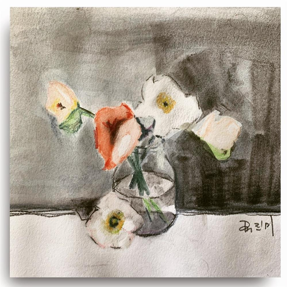 """776 Vase of Flowers"" original fine art by Jenny Doh"