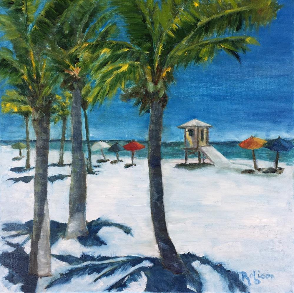 """15th St Palm Trees"" original fine art by Renee Robison"