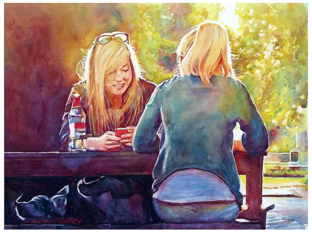 """Smile"" original fine art by Graham Berry"