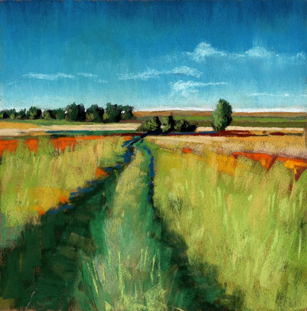 """Abandoned Path landscape painting"" original fine art by Ria Hills"